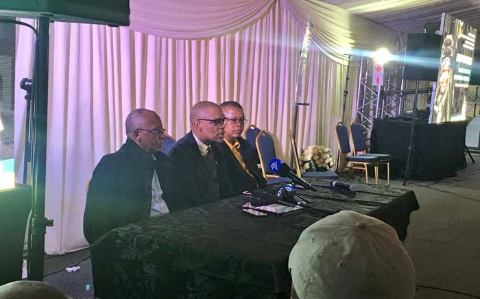 ANC national spokesperson Pule Mabe briefs the media on plans for Winnie Madikizela-Mandela's funeral on 13 April 2018. Picture: Katleho Skehotho/EWN