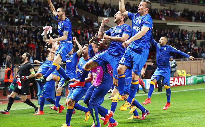 Juventus players celebrate during the Uefa Champions League 2015. Picture: Uefa Champions League.