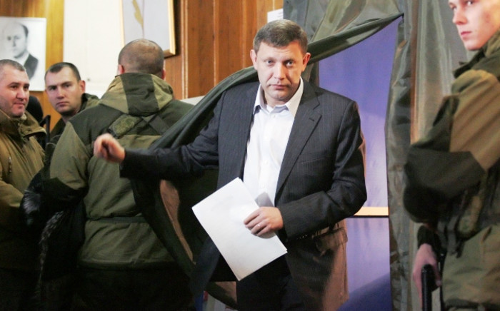 FILE:Alexander Zakharchenko, current Prime Minister of the self-proclaimed Donetsk People's Republic leaves a voting booth during the elections in the self-proclaimed Donetsk People's Republic in Ukraine on 2 November 2014. Picture: EPA.