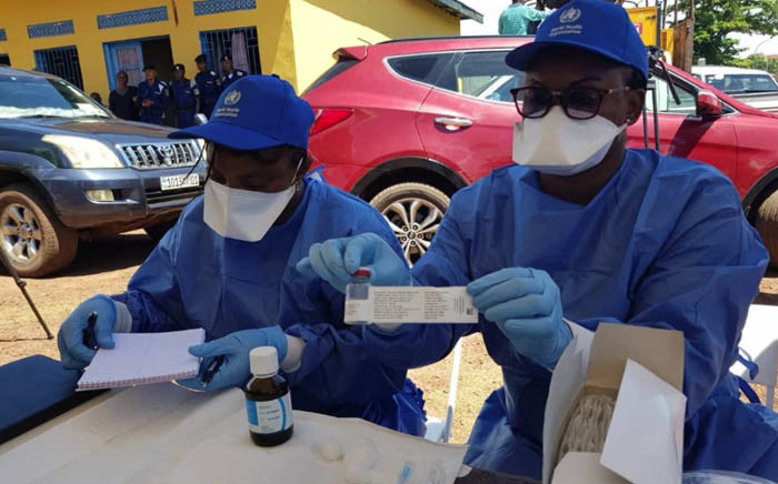 Health workers operating in affected areas in the Democratic Republic of the Congo are being vaccinated. Picture: @WHO/Twitter.