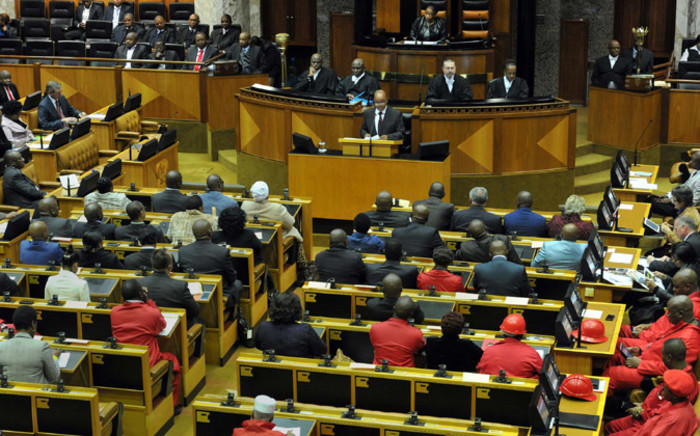FILE: President Jacob Zuma responding to Members of Parliament. Picture: GCIS.