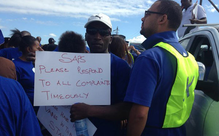 The DA led a protest march in Philippi on Human Rights Day, Monday 21 March, calling for improved policing in the area. Picture: Shamiela Fisher/EWN.