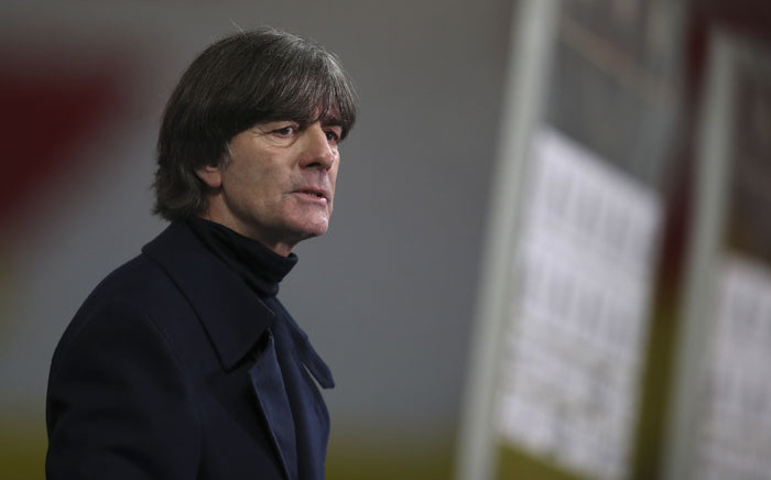 Germany's coach Joachim Loew reacts after the UEFA Nations League Group 4 football match against the Ukraine on 14 November 2020 at the Red Bull Arena stadium in Leipzig, eastern Germany. Picture: AFP