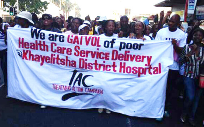 Hundreds of Treatment Action Campaign (TAC) members took to the street of Cape Town to protest against the state of poor health system on 10 April 2014. Picture: Lauren Isaacs/EWN.