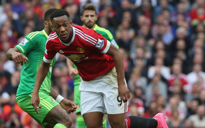 Manchester United Striker, Anthony Martial fights for the ball during the English Premier League clash against Sunderland on 26 September 2015. Picture: Manchester United Facebook page.