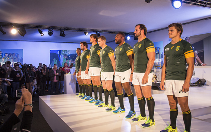 The Sprinbok Rugby World Cup 2015 jersey was officially launched in Cape Town on 4 June 2015. Picture: Aletta Gardner/EWN