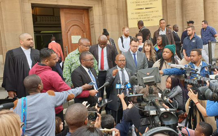 The Equality Court in Johannesburg on Wednesday 21 August 2019 ruled that the gratuitous display of the apartheid flag constituted hate speech. The case was brought by the Nelson Mandela Foundation and the South African Human Rights Commission following displays of the old South African flag during a protest in 2017. Picture: @NelsonMandela/Twitter.