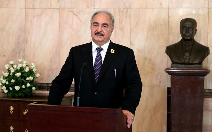 FILE: Libyan General Khalifa Haftar. Picture: AFP.