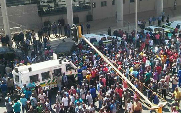 Taxi operators have handed over a memorandum of demands to the City of Tshwane officials.Picture: Intelligence Bureau SA on Facebook.