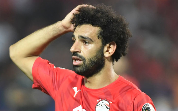 Egypt forward Mohamed Salah reacts during the 2019 Africa Cup of Nations (CAN) round of 16 football match against South Africa at the Cairo International Stadium in the Egyptian Capital on 6 July 2019. Picture: AFP