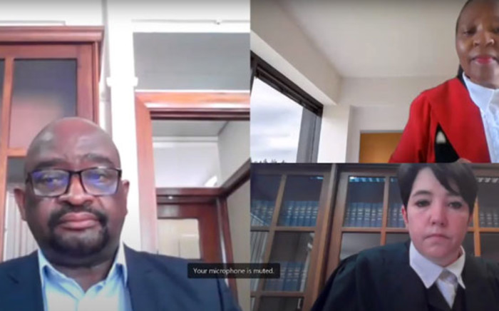 A screengrab of Judge Mmonao Teffo (top right) presides over a virtual session of the Life Esidimeni inquest on 30 August 2021.