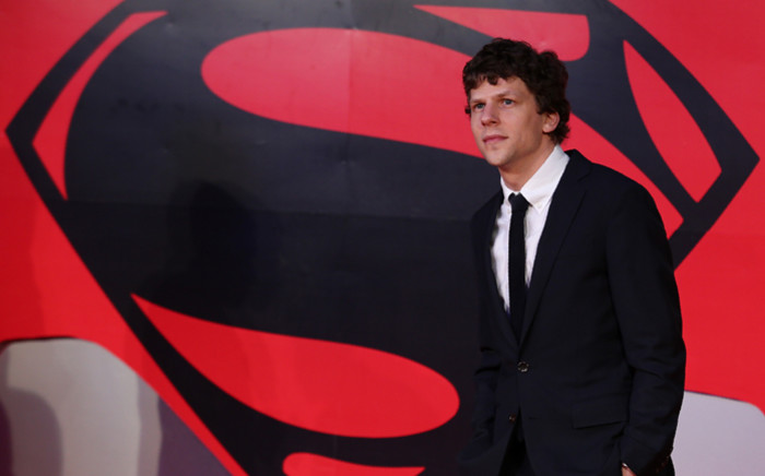 US actor Jesse Eisenberg poses for a photograph after arriving to attend the European Premiere of the film 'Batman v Superman: Dawn of Justice', in central London on 22 March, 2016. Picture: AFP.