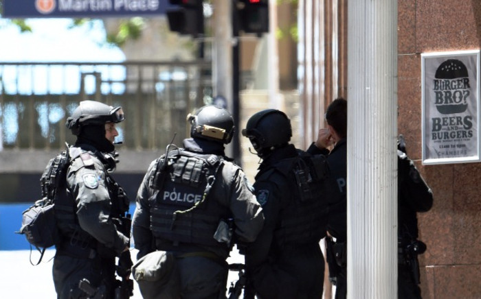 FILE: Australia's counter-terrorism police in Sydney. Picture: AFP.