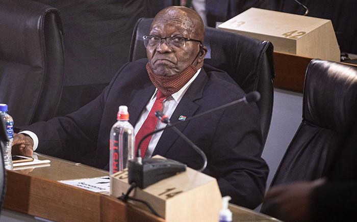 FILE: Former President Jacob Zuma at the state capture inquiry in Johannesburg on 17 November 2020. Picture: Abigail Javier/EWN
