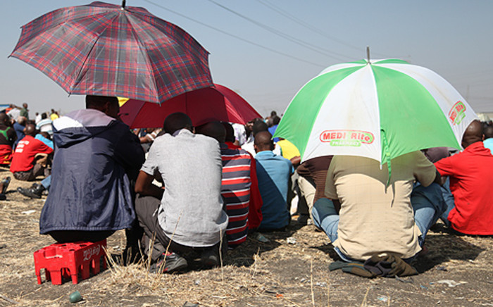 Striking miners from Harmony Gold's Kusasalethu Mine have reportedly been without food for two days.