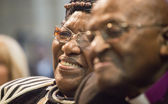 Desmond Tutu said he owed everything he is to his wife Leah during the couple's 60th anniversary celebration at St George's Cathedral in Cape Town on 2 July 2015. Picture: Aletta Gardner/EWN