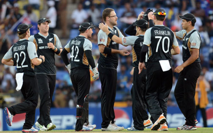 New Zealand captain Brendon McCullum had won the toss in overcast conditions and gloomy light and sent England in but umpires took a reading before play and delayed the start. Picture: AFP