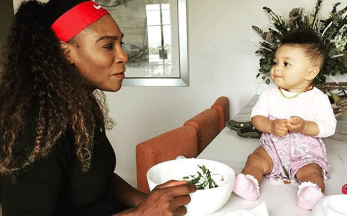 Serena Williams with her daughter Alexis Olympia. Picture: @serenawilliams/instagram
