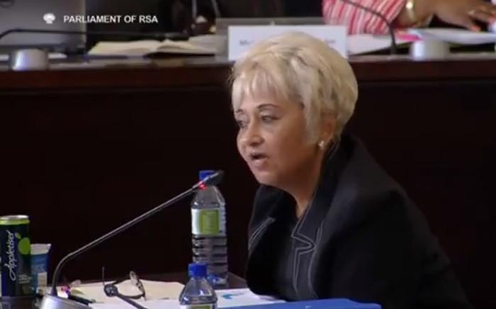 A screengrab of former Eskom board member Venete Klein.