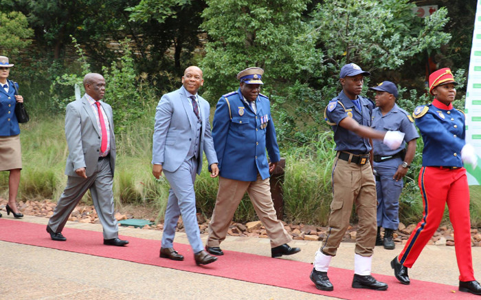 Tshwane Mayor Kgosientso Ramokgopa arrives in Freedom Park ahead of his State of the City Address on 21 April 2016. Picture: Facebook
