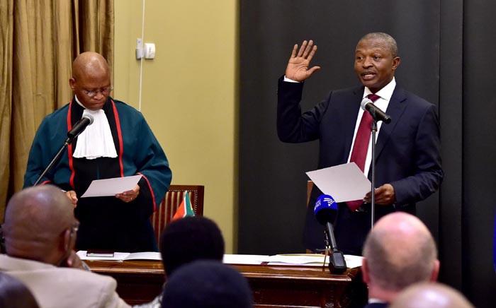 FILE: Chief Justice Mogoeng Mogoeng swearing in David Mabuza as deputy president. Picture: GCIS.