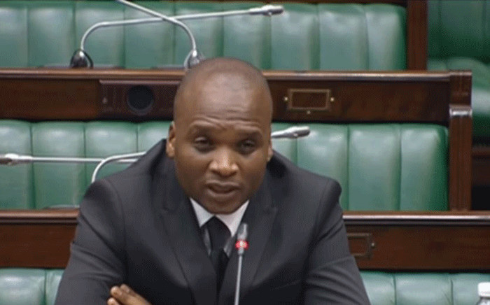 A screengrab shows deputy public protector candidate advocate Shadrack Nkuna in Parliament during his interview on 12 November 2019. Picture: SABC Digital News/youtube.com