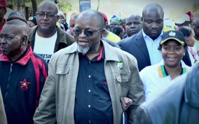 Gwede Mantashe during the ANC march to Goodman Gallery on 29 May 2012. JHBLive/Facebook