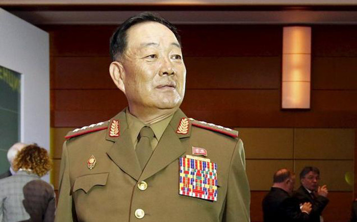 North Korea has executed its defence chief, Hyon Yong Chol for falling asleep by putting him in front of an anti-aircraft gun at a firing range. Picture: Facebook.