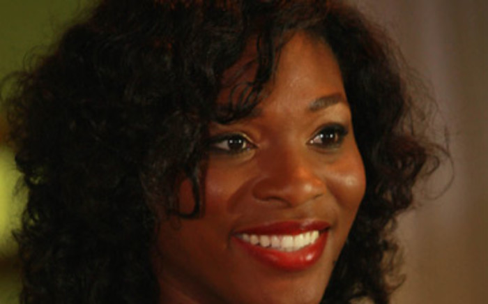 US tennis champion Serena Williams in Johannesburg on Tuesday 11 November 2008 during her first visit to South Africa. Picture: Werner Beukes/SAPA