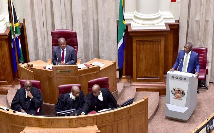 FILE: Deputy President David Mabuza replies to oral questions in the National Council of Provinces in Parliament, Cape Town. Picture: GCIS.