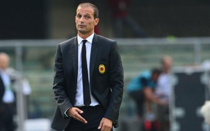 AC Milan coach Massimiliano Allegri. Picture: AFP.