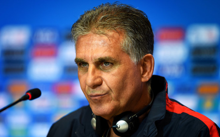Iran's Portugese coach Carlos Queiroz speaks during a press conference at the Fonte Nova Arena in Salvador on 24 June, 2014, on the eve of their 2014 Fifa World Cup Group F match against Bosnia-Hercegovina. Picture: AFP.
