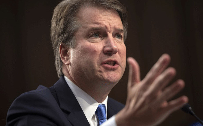 In this file photo taken on 5 September, 2018 Judge Brett Kavanaugh testifies during the second day of his US Senate Judiciary Committee confirmation hearing to be an Associate Justice on the US Supreme Court, on Capitol Hill in Washington, DC. Picture: AFP