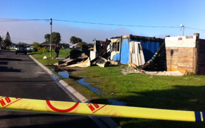 A suspected drug den in was petrol bombed on Tuesday 30 July 2013 overnight in 6th Avenue, Grassy Park Picture: Rahima Essop/EWN