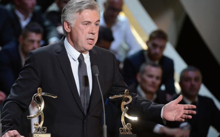 Italian coach Carlo Ancelotti. Picture: AFP.