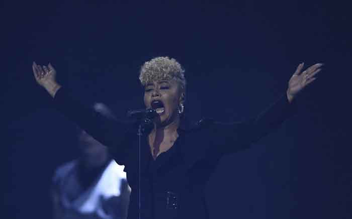FILE: British singer-songwriter Emeli Sande performs during the BRIT Awards 2017 ceremony and live show in London on 22 February 2017. Picture: AFP