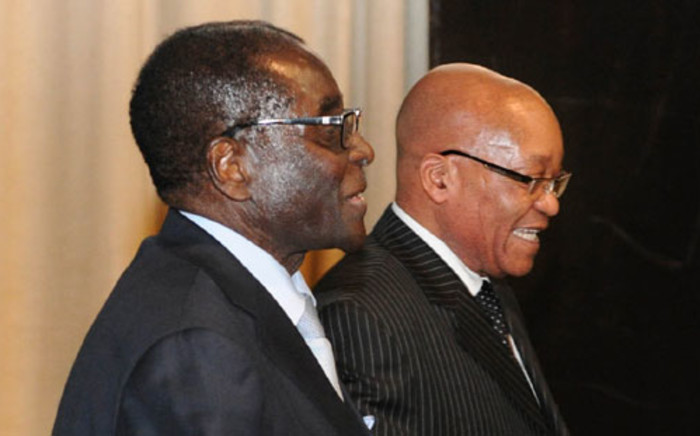 Zimbabwean President Robert Mugabe and President Jacob Zuma at the African Diaspora. Picture: GCIS.