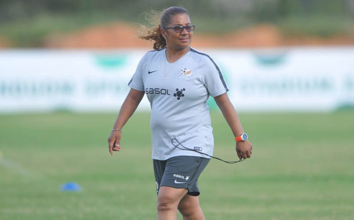 Banyana Banyana coach Desiree Ellis. Picture: @SAFA_net/Twitter