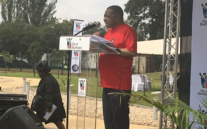 SACP general secretary Blade Nzimande at the 26th anniversary of the assassination of the Chris Hani on 10 April 2019. Picture: Robinson Nqola/EWN.