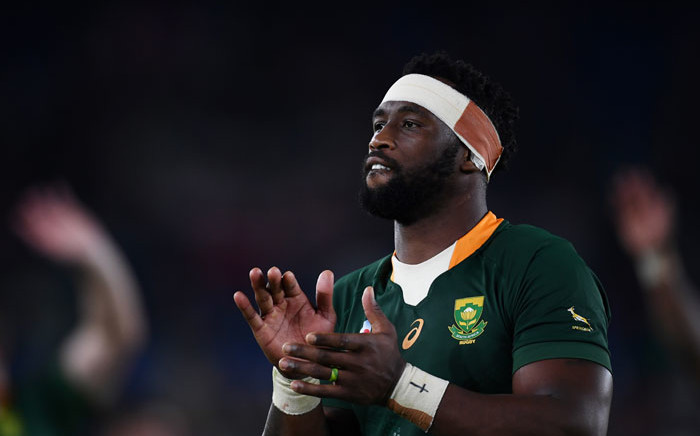 FILE: South Africa captain Siya Kolisi celebrates winning the Japan 2019 Rugby World Cup semifinal match between Wales and South Africa at the International Stadium Yokohama in Yokohama on October 27, 2019. Picture: AFP