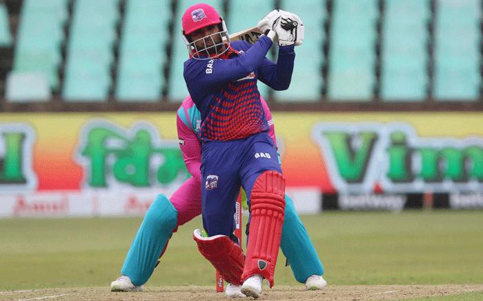 Pakistan batsman Asif Ali in the Mzansi Super League match on 19 November 2019. Picture: @CT_Blitz/Twitter.