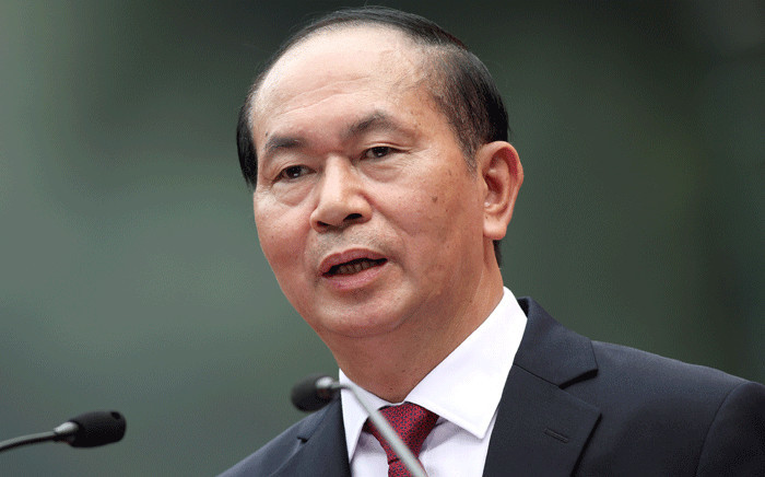 In this file photo taken 12 November 2017, Vietnamese President Tran Dai Quang speaks during a press conference at the Presidential Palace in Hanoi. Picture: AFP
