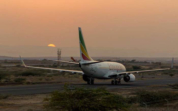 FILE: None of the 90 passengers or crew was injured, spokesman Tidiane Tamba told Reuters. Picture: @ethiopianair1/Twitter.