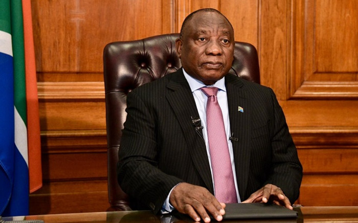 President Cyril Ramaphosa addresses the nation on Sunday, 28 February. Picture: GCIS.