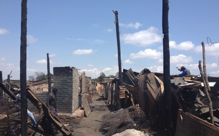 Hundreds of residents from the Slovo Park were left homeless after the fire razed 400 shacks to the ground. Picture: Emily Corke/EWN.
