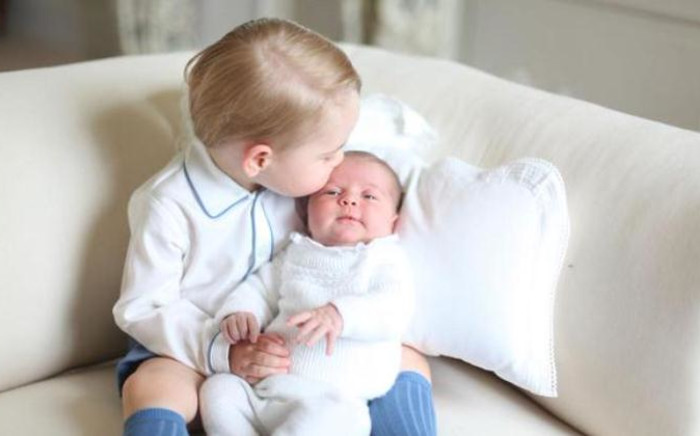 The first official photograph of Princess Charlotte with her older brother Prince George were released by Kensington Palace on 6 June, 2015. The photos were taken by the Duchess of Cambridge. Picture: HRH The Duchess of Cambridge.