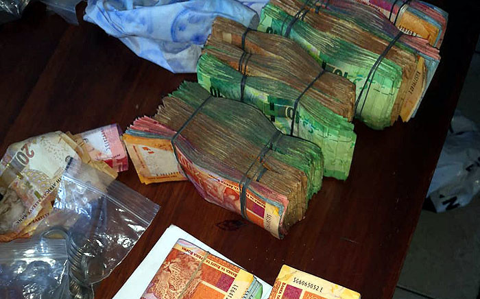Goodwood police confiscated drugs and cash, among other items, during a crime operation in the area on 23 August 2019. Picture:  @SAPoliceService/Twittter.