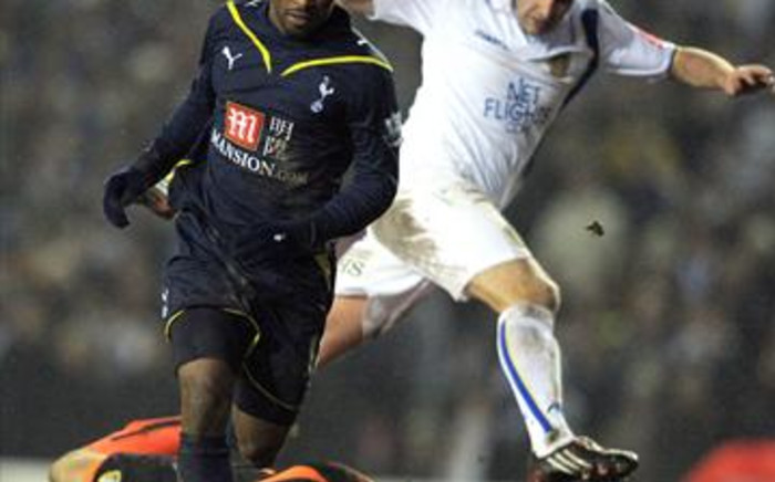 Tottenham striker Jermaine Defoe bears down on goal. Picture: AFP