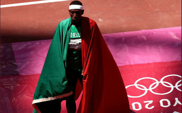 Pedro Pichardo of Portugal won the men's triple jump gold medal at the Tokyo Olympics. Picture: @Olympics/Twitter.