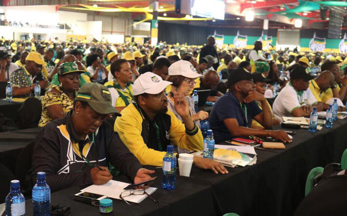 Delegates attend a plenary session at Nasrec during the ANC's national conference on 17 December, 2017. Picture: @MYANC/Twitter